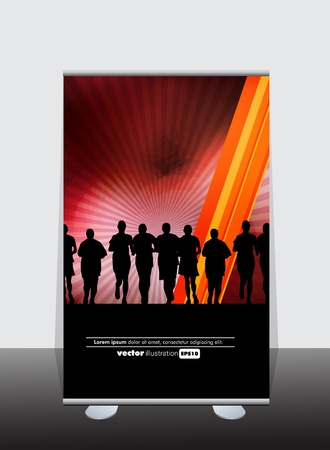 stand display: Banner stand display