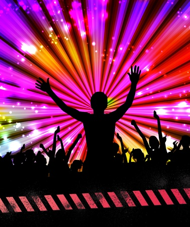 Large crowd of party people - event background. Stock Vector - 12401562
