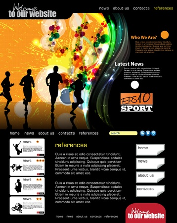 Web template with sport subject Stock Vector - 12410217