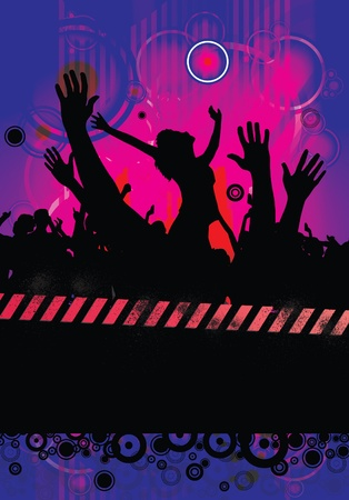 Party People Background - Dancing People  Vector