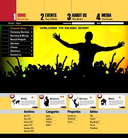 Web site design template Stock Vector - 12410245