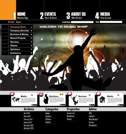 Web site design template Stock Vector - 12410247