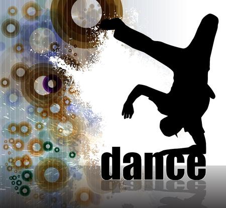 dance hip hop: Abstracci�n del cartel del grunge