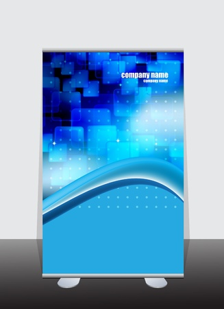 display stand: Banner stand display with identity background ready for use Illustration