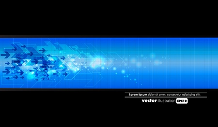 Abstract dark blue technical background  Vector
