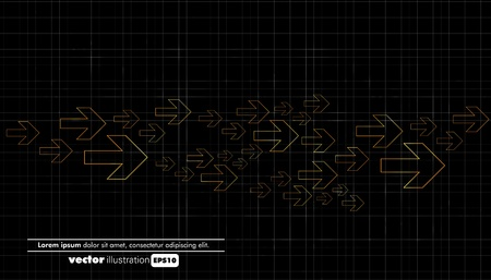 Abstract dark technical background  Vector