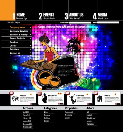 web portal: Website Template