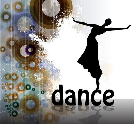 chicas bailando: Parte de fondo