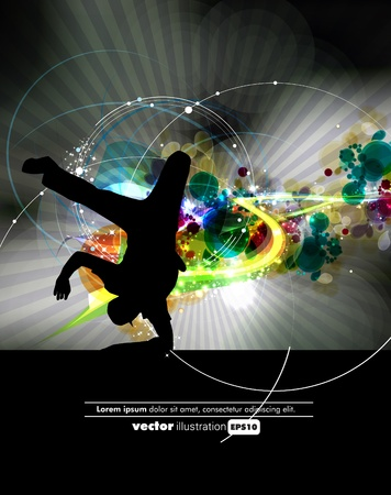 baile hip hop: Parte de fondo