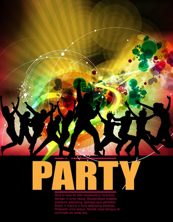 Party Background Stock Vector - 12507705