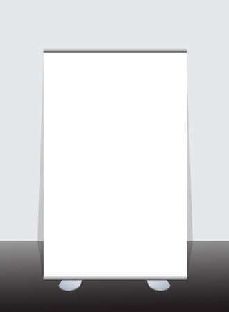 Vector blank roll up banner display  Vector