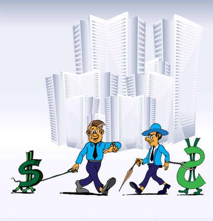 businesslike: Gerente de illuatsration Vectores