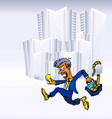 Manager  illuatsration Stock Vector - 12487430