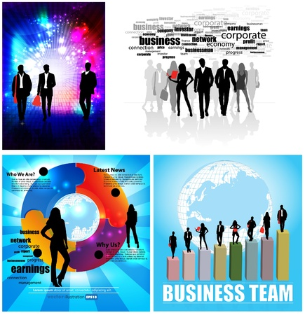 Business Abstract Background Stock Vector - 12410308