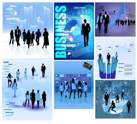 investor: Business Abstract Background Illustration