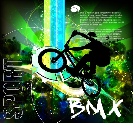 bmx: cyclist  Illustration