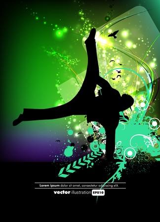 baile hip hop: Abstracción del cartel del grunge