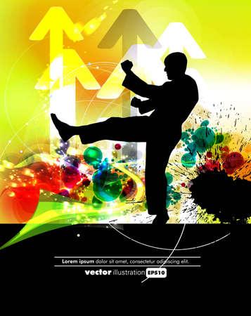 tae: Ilustraci�n vectorial de las Artes Marciales Vectores