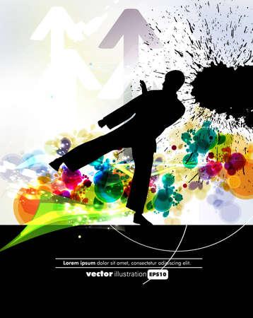 kyokushin: Vector illustration of Martial Arts  Illustration