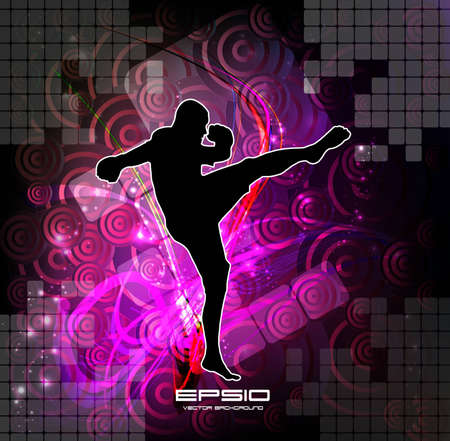 Vector illustration of Martial Arts  Stock Vector - 12496908