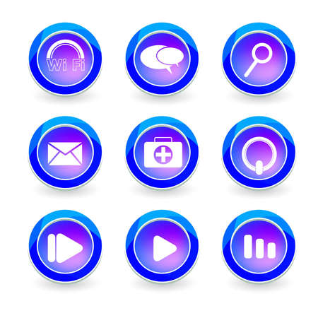 Set of vector icon web Stock Vector - 12494425