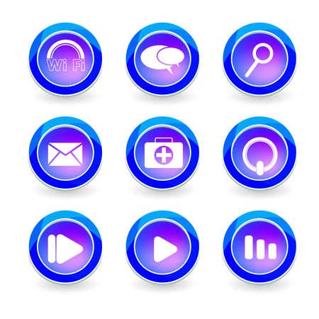 Set of vector icon web