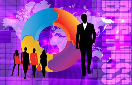 multinational: Business illustration