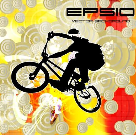 Vector of BMX cyclist Vector