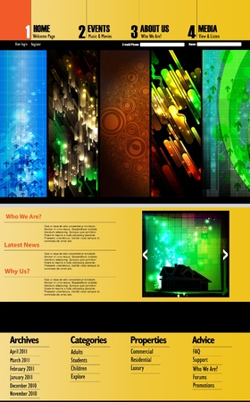 Web Site Page Template Vector