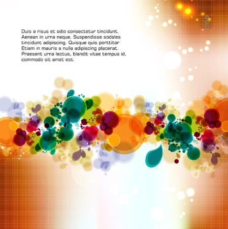 transparency color: Abstract colorful background  Vector   Illustration