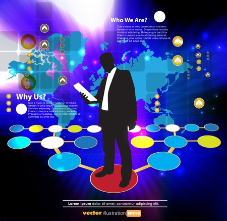adviser: Business concept  Vector illustration