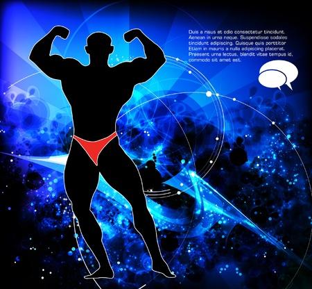 is masculine: Bodybuilding  Vector illustration