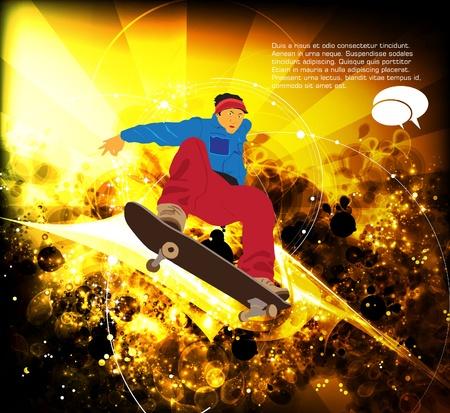 skateboard park: Skater Vectores