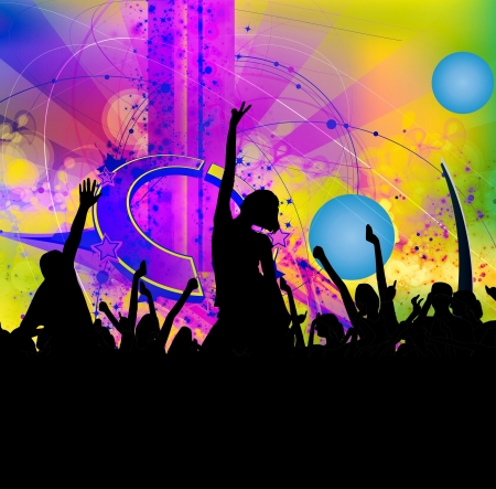 backdrop: Music event illustration