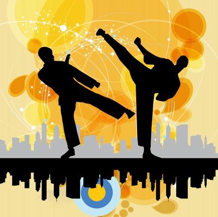 Illustration of karate Vector