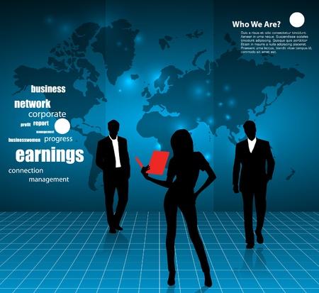 migraci�n: Empresas ilustraci�n Vectores