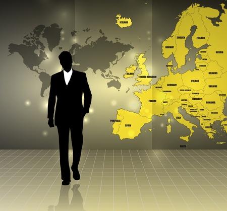 mapa de europa: Empresas ilustraci�n Vectores