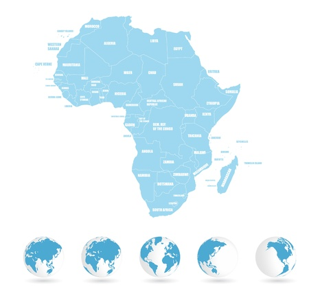 map of africa: Earth background, africa Illustration