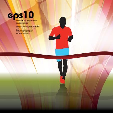 Marathon illustration Stock Vector - 13012024