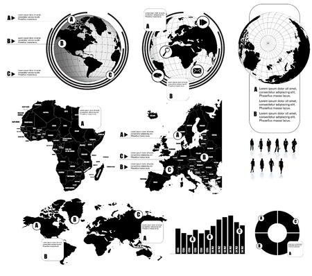 Carte du monde Vecteurs