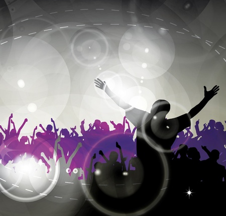 concert crowd: Party illustration
