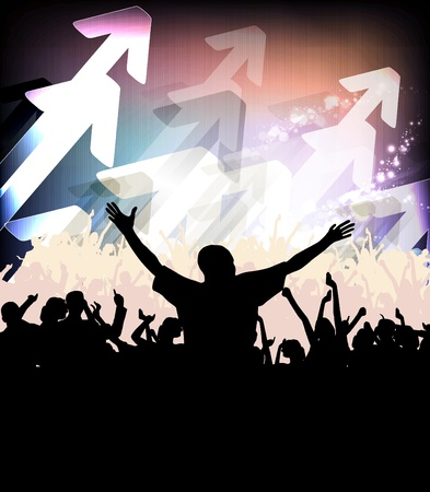 Clubbing Stock Vector - 13027926