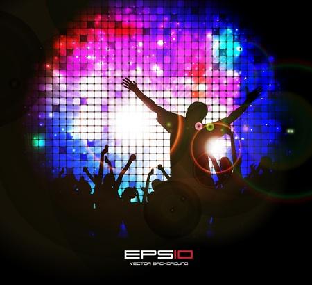 Dance event illustration Stock Vector - 13064574