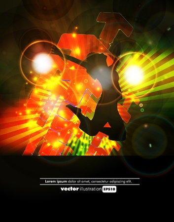 Music background illustration Stock Vector - 13064577