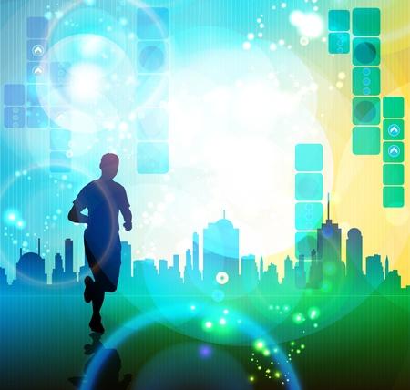 City runner Illustration