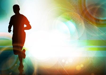 atleta corriendo: Sport ilustración vectorial Vectores