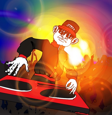 DJ Stock Vector - 13113916