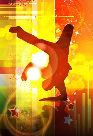 fondo luminoso: Breakdance