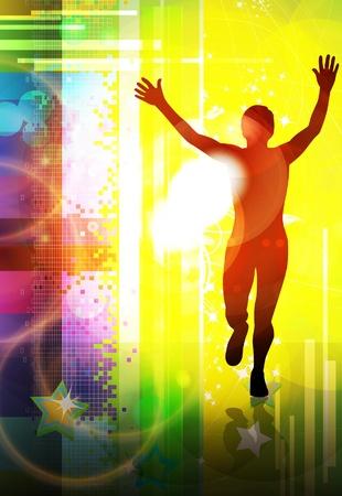 マラソン ランナー  イラスト・ベクター素材