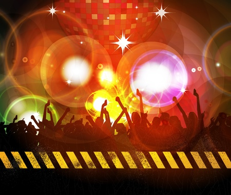 clubbing: Music background illustration